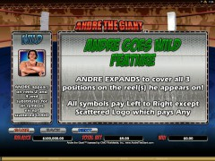 Andre the Giant automaat77.com Microgaming 2/5