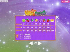 Wild7Fruits automaat77.com MrSlotty 5/5
